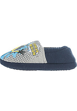 Despicable Me Minions Speaking Elasticated Slippers Infant Sizes 6-12 Slippers - Navy
