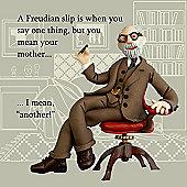Holy Mackerel Freudian slip Greetings Card