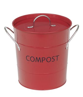 VICTOR Compost Bucket with Liner in Red