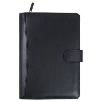 Collins Rochester A6 Premium Leather Pocket Organiser, Black