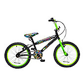 "Concept Graffiti 18"" Wheel Boys BMX Bike Black and Green"
