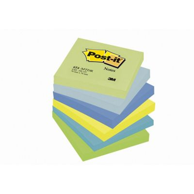 Post-it Colour Notes Pad of 100 Sheets 76x76mm 6 Pack