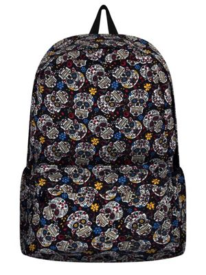 Mexican Sugar Skull Canvas Backpack 34x42cm