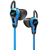 SMS Biosport Blue Earphones with Heart Rate Monitor Remote and Mic
