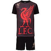 Liverpool FC Boys Short Pyjamas - Black