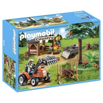 Playmobil 6814 Country Lumber Yard With Tractor