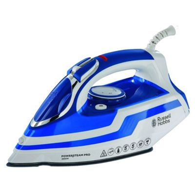 Russell Hobbs Powersteam Pro Iron - Blue & White