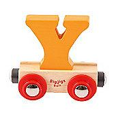 Bigjigs Rail Rail Name Letter Y (Orange)