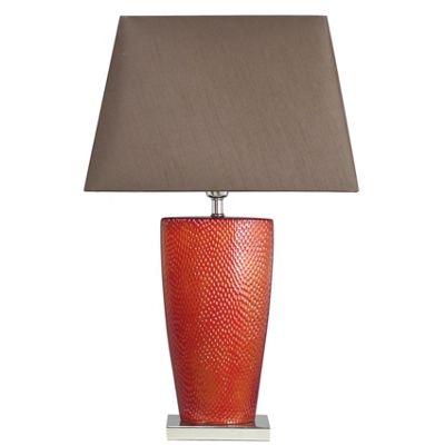 Bahama Terracotta Small Table Lamp with Chocolate Shade