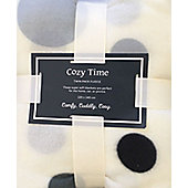 Grey Spots Fleece Blanket - Pack of Two