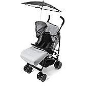 Your Baby - California Buggy/Pushchair-Grey Incl Grey Footmuff & Black Parasol.