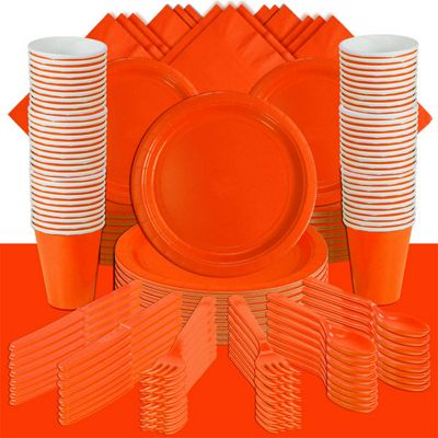 Orange Deluxe Party Pack for 100