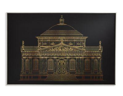 Gold Architectural Capped Canvas 60cm x 90cm