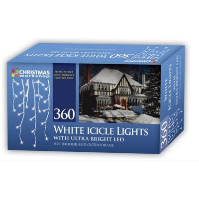 Christmas Workshop Chaser LED Icicle Lights
