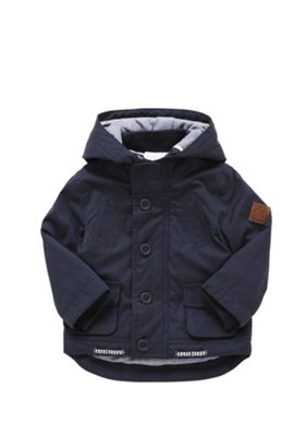 F&F Padded Fisherman Jacket 9-12 months Navy