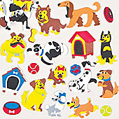 Cute Dog Foam Stickers for Children to Decorate Personalise Summer Crafts Cards and Collages (Pack of 120)