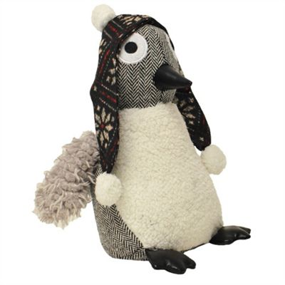 Riva Home Penguin Door Stop - Grey