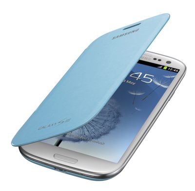 Samsung Original Flip Case for Galaxy S3/SIII - Light Blue