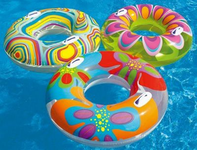 Intex Transparent Tube Swimming Pool Ring with Handles