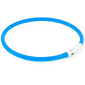 Ancol Rechargeable High Visibility Flashing Dog Band - Blue