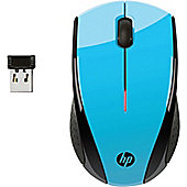 HP X3000 Mouse - Optical - Wireless - 3 Button(s) - Blue