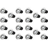 20 x Starmo Brushed Chrome GU10 Mains Recessed Ceiling Light Spotlight Downlight