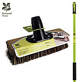 """Charles Bentley National Trust Garden 9"""" Bassine Deck Patio Scrubbing Broom With Scraper"""