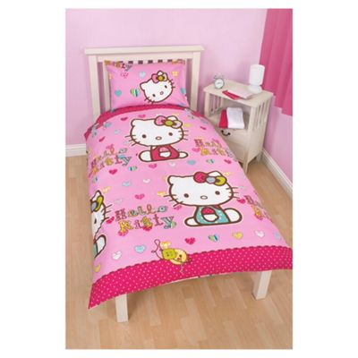 Hello Kitty Folk Duvet Cover Set Single