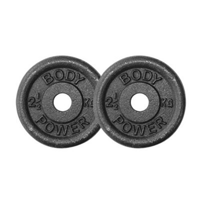 Body Power Cast Iron Standard (1 Inch) Discs 2.5kg (x2)