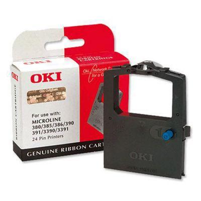 OKI 9002309 Ribbon Cassette Fabric Nylon Black [for 300 Series-24 PIN-380-385 6-390 1-3390]