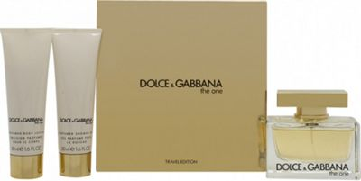 Dolce & Gabbana The One Gift Set 75ml EDP + 50ml Body Lotion + 50ml Shower Gel For Women