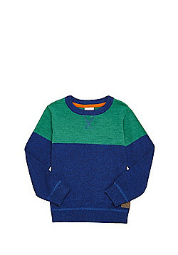 F&F Colour Block Jumper - Blue & Green
