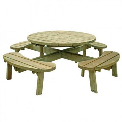 Large Round FSC Picnic Table