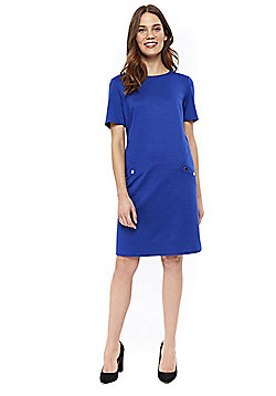 Wallis Ponte Shift Dress - Cobalt blue