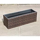 Hand Woven Rattan Rectangle Window Basket - Large