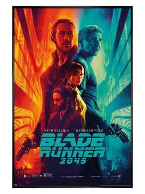 Blade Runner 2049 Gloss Black Framed Fire & Ice Poster