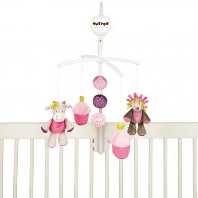 Nattou Musical Baby Cot Mobile - Mannon and Alizee