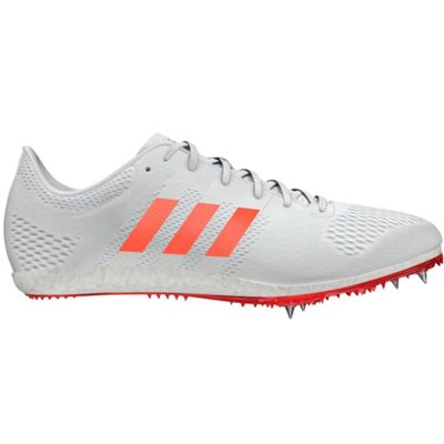 adidas adizero Avanti Running Spike Shoe White/Red - UK 4