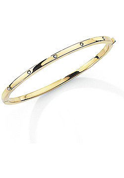 Jewelco London 9ct Yellow Gold - Diamond - Bangle