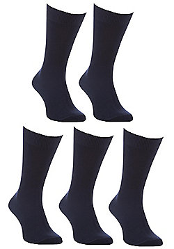 F&F 5 Pair Pack of Fresh Feel Socks with Bamboo - Navy