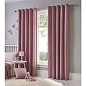 Fusion Sorbonne Eyelet Curtains - Pink