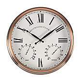 Outside In Henley Wall Clock and Thermometer 12in