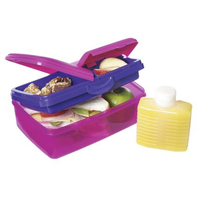 Sistema Quad Pink Lunch Box