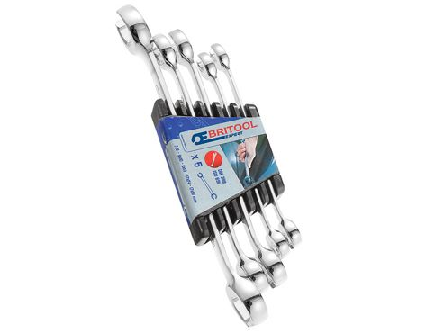 Britool Flare Nut Wrench Set of 5 7x9, 8x10, 11x13, 12x14 & 17x19mm
