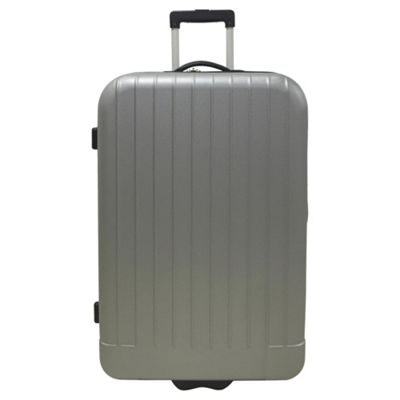 f019560cf05d Buy Tesco Edinburgh 2 wheel Hard Shell Grey Large Suitcase from our ...
