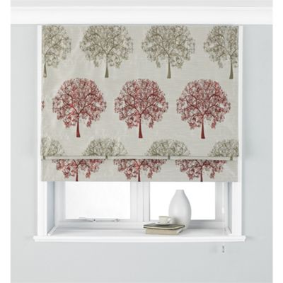 Riva Home Oakdale Red Roman Blind - 153x137cm