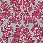 Superfresco Easy Majestic Paste The Wall Damask Hot Pink Wallpaper