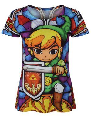 Nintendo Zelda Link All Over Print Women's T-shirt
