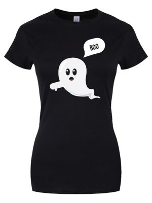 The Grumpy Ghost Women's T-shirt, Black.