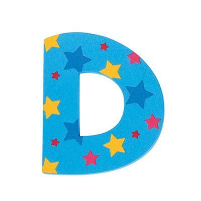 Bigjigs Toys Star Letter D (Blue)